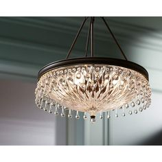 Macey 20 Wide Bronze Crystal Chandelier in scene Brushed Nickel Chandelier, Bronze Chandelier, Candle Chandelier, Pendant Lamp, Bathroom Chandelier, Bedroom Chandeliers, Bubble, Hallway Designs, Chandelier Lighting