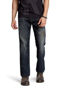 True Religion Men's Flap Pocket Straight Leg Jean in Quantum NWT $257 #TrueReligion #ClassicStraightLeg