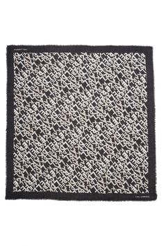 Karl Lagerfeld Damen Schal Aop Square Scarf Schwarz/Weiss | SAILERstyle Karl Lagerfeld, Trends, Square Scarf, Designer, Fashion Styles, Bags, Women's, Beauty Trends