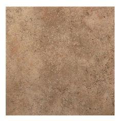 American Olean�8-Pack 18-in x 18-in Vallano Milk Chocolate Glazed Porcelain Floor Tile (Actuals 18-in x 18-in)