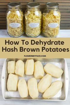 Dehydrated Vegetables, Dehydrated Food, Veggies, Canning Food Preservation, Preserving Food, Dehydrate Potatoes, Canned Food Storage, Long Term Food Storage, Dehydrator Recipes