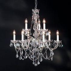 Crystal nine arm chandelier | Andy Thornton