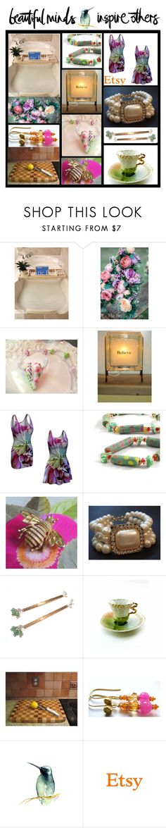 Beautiful Minds Inspire Others on Etsy by belladonnasjoy on Polyvore featuring Avon, Butter London, kitchen, modern, rustic and vintage
