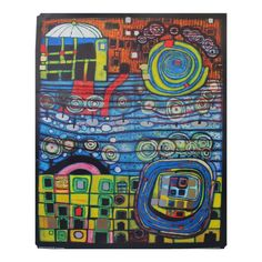 "1995 Original Exhibition Poster - ""The Four Solitudes"" by Hundertwasser"
