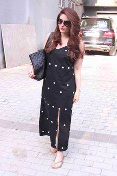 Hot Dot Black Slip Dress By Masaba Gupta