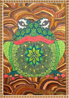 Auteur: Karine Daniel - Revue: Coloriage Passion n°10 - Éditions MEGASTAR® France. Passion, France, Painting, Art, Coloring Pages, Animaux, Art Background, Painting Art, Kunst