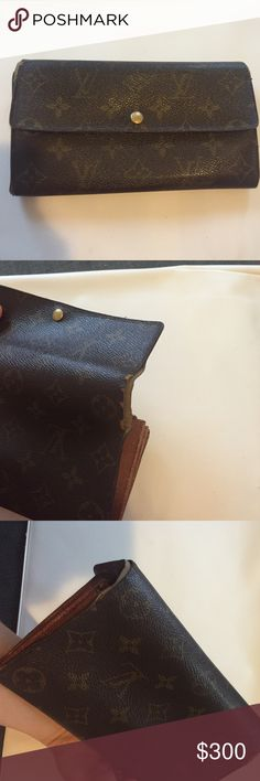 Authentic Louis Vuitton Authentic wallet. Edged need to be restitched as pictures. Inside in good clean condition. Zipper works Louis Vuitton Bags Wallets