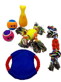 Dog Toys - Dog Chew toys Toy Ropes Squeak Toys Plush Toys Toy Balls etc. Variety Pack for a Doggie 5 Pack gift Set (Colors may vary) ** Find out more about the great product at the image link.