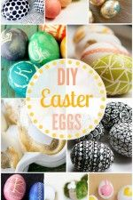 A collection of 50+ DIY Easter eggs sure to give you some inspiration for your creative egg decorating!! { lilluna.com }