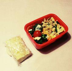 6/27 ブロッコリーマヨ焼き、ミニトマト、ツナニラ玉、高野豆腐サンド(ハムチーズ)