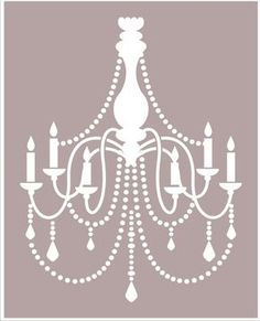 Chandelier STENCIL Available in 6 sizes by SuperiorStencils