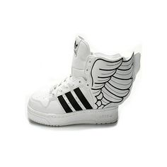 d793b9b2e37db Men s Adidas Angel Adidas Boots 2.0 White Black shoes ❤ liked on Polyvore  Adidas Jeremy Scott