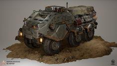 Sci fi cargo tank, Anton Kavousi on ArtStation at https://www.artstation.com/artwork/Ng0r5