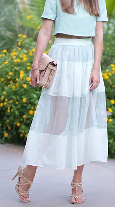 Mint...so easy to hack this look. I'd make it longer and in navy with a dressy wrap around halter in crisp white.