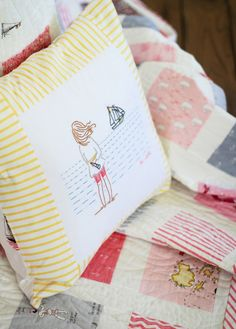 sarah jane be still embroidery pillow