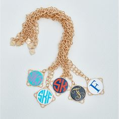 Monogrammed Long Madeline Necklace // FORNASH