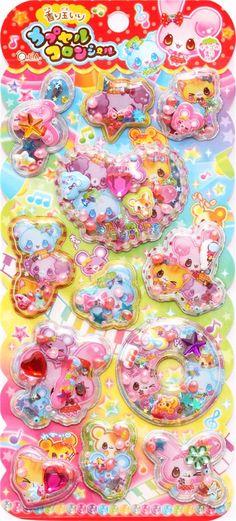kawaii animals rabbit bear capsule stickers perfume sticker 2