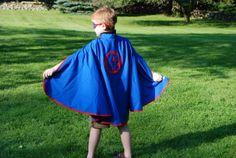 Kids Personalized Super Hero Cape   Blue $34.95