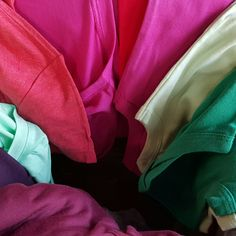 It's like Christmas when the shipment of tee's and onesies get here. There are new colors too!