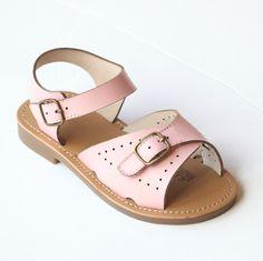 fbbafad18 L Amour Girls Leather Buckled Sandals — Babychelle Girls Sandals