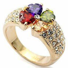 9a1c38c8174aa6 Swarovski Elements Crystal Four Leaf Clover Ring-CR3431 Color-jewels.   19.99. Comes. Clover RingLeaf CloverEngagement JewelryWedding ...