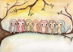 Owl PrintOwls by thepoppytree on Etsy, $16.00