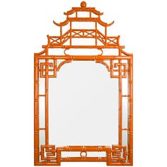 Chinese Chippendale Mirror In iconic Chinese Chippendale style, this mirror takes on an updated twist in glossy lacquer finishes. Make a color statement in your foyer, living, dining, or bedroom with this exceptional accent piece in Navy, Orange or White.