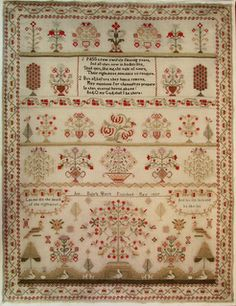 Ann Dale - Sampler reproduced by Shakespeare's Peddler. 