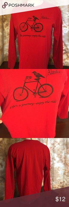 Tee Long sleeve tee. Alaska tee shirt. Never worn. next level Tops Tees - Long Sleeve