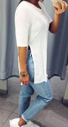 White Side-Slit Tunic