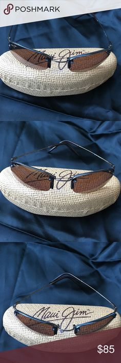 Maui Jim Sunglasses Maui Jim flexion sports polarized sunglasses! An awesome pair of glasses that are unisex.  They do have some scratches on left lens but doesn't impede vision.  Tried to photograph but they don't show up.  Nonsmoking home & open to offers Maui Jim Accessories Glasses