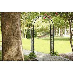 Garden Arch Climbing Plants Pergola Archway Rose Flower Frame Iron 200x52x204 cm