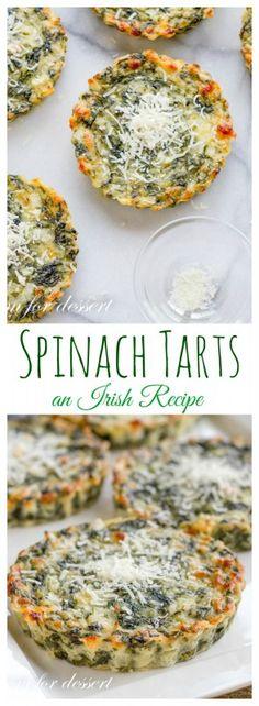 Spinach Tarts - an Irish Recipe