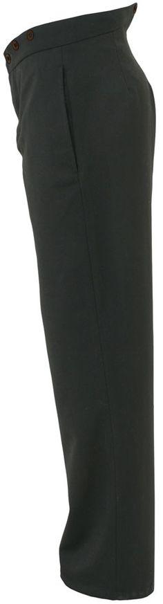 CT040 1860's Black Wool Civilian Trousers