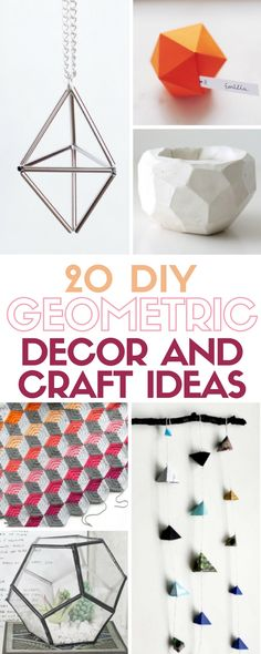 The Geometric trend is showing up everywhere with shapes and patterns in home decor, artwork, jewelry and more! Easy DIY craft tutorial ideas to inspire.