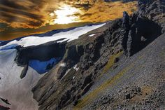 Onasill ~ Bill Badzo posted a photo:  The Laugavegur is a famous trekking route in South-West Iceland from the hot springs area of Landmannalaugar to the glacial valley of Þórsmörk . It is noted for the wide variety of landscapes on its 55 km (34 mi) path. The route is typically completed over 2–4 days with potential stops at the mountain huts at Hrafntinnusker, Álftavatn, Hvanngil and Emstrur. An ultramarathon is held on the route each July. It is possible to combine the trek with the…