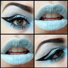 A blend of Mineral Eyeshadows Frost and Infinity to create this look! Check out that awesome liner too!