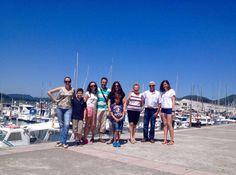 Visita del 26 de junio frente al puerto deportivo.