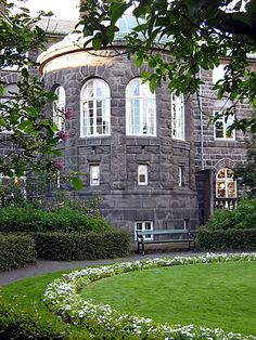 Parliament House, Reykjavik - not everyone knows this, but behind the Parliament Building there is a tiny garden that is open to the public. I have occasionally gone in there to have a rest from one of my walks around the city centre.