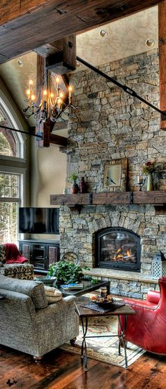 rustic comfort living room http://www.deliciousdecors.com
