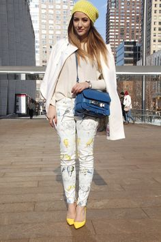 Yellow touch - New York Fashion Week, Fall/Winter 2014-2015 - outfit - streetstyle