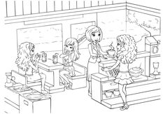 friendship coloring pages lego friends