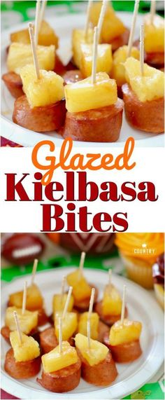 Glazed Kielbasa Bites recipe from The Country Cook #tailgate #tailgating #food #superbowl