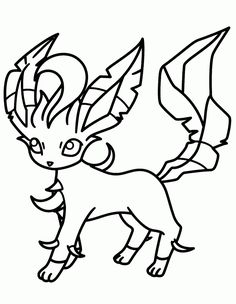 httpcoloringscopokemon leafeon coloring pages