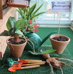 Mandrake Planting Station + Decor from a Harry Potter Birthday Party via Kara's Party Ideas | KarasPartyIdeas.com (9)