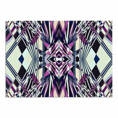 KESS InHouse Pia Schneider 'SWEEPING LINE Pattern I-E4C' Purple Geometric Dog Place Mat, 13' x 18' ** Startling review available here  : Dog food container