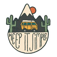 Surfing Westfalia Sticker - by David Rollyn