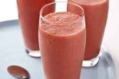 Licuado de yogur y fresas receta