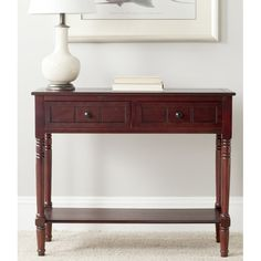 Got a spirit for all things seafaring? The perfect place to imbue oceanic allure is in the entryway! Start by rolling out a knotted jute rug on the floor below for a touch of texture in your foyer foundation, then illuminate the area with a few flickering candle lanterns and finally draw the eye with a distinctive display atop this classic console table. Crafted of solid pine wood, this pleasant piece features four turned legs and a versatile solid finish. Add on anchor sculptures and a…
