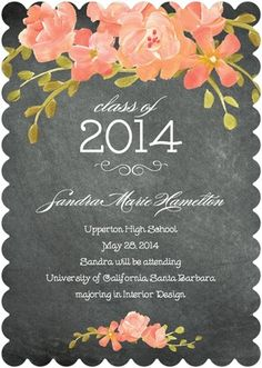 Chalked Dream - #Graduation Announcements - Coloring Cricket - Orange Sherbet #TopPin